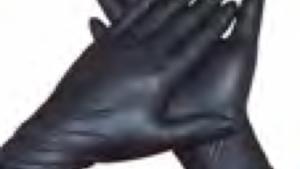 Nitriel Handschoen zwart plastic handschoen